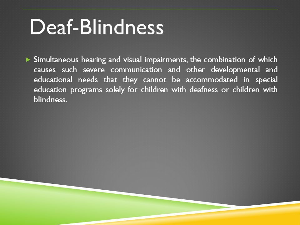 Deaf-Blindness