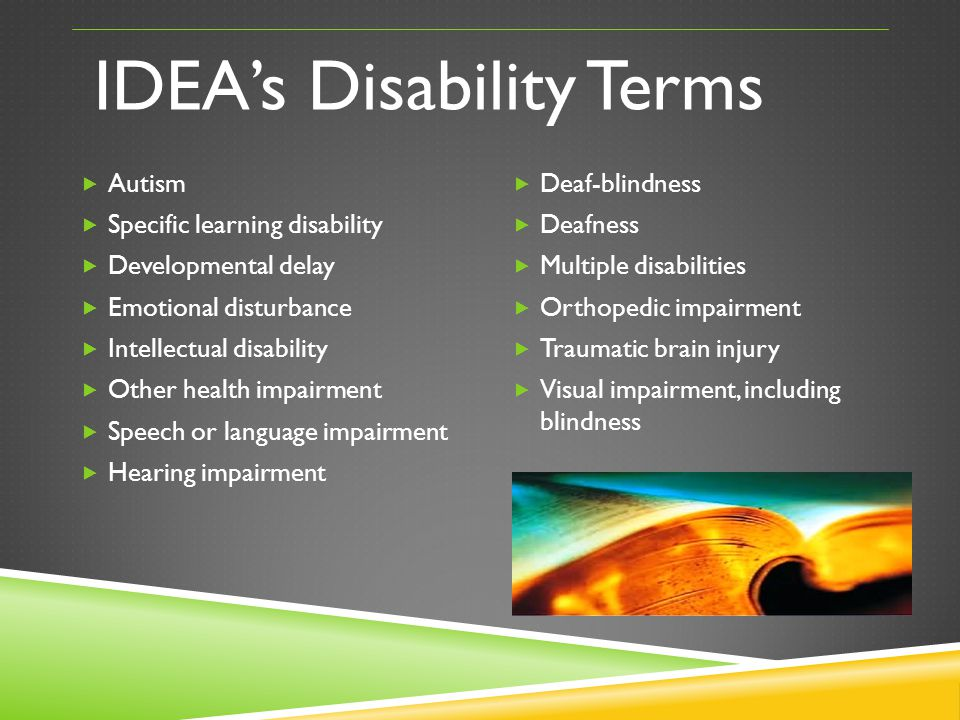 IDEA's Disability Terms
