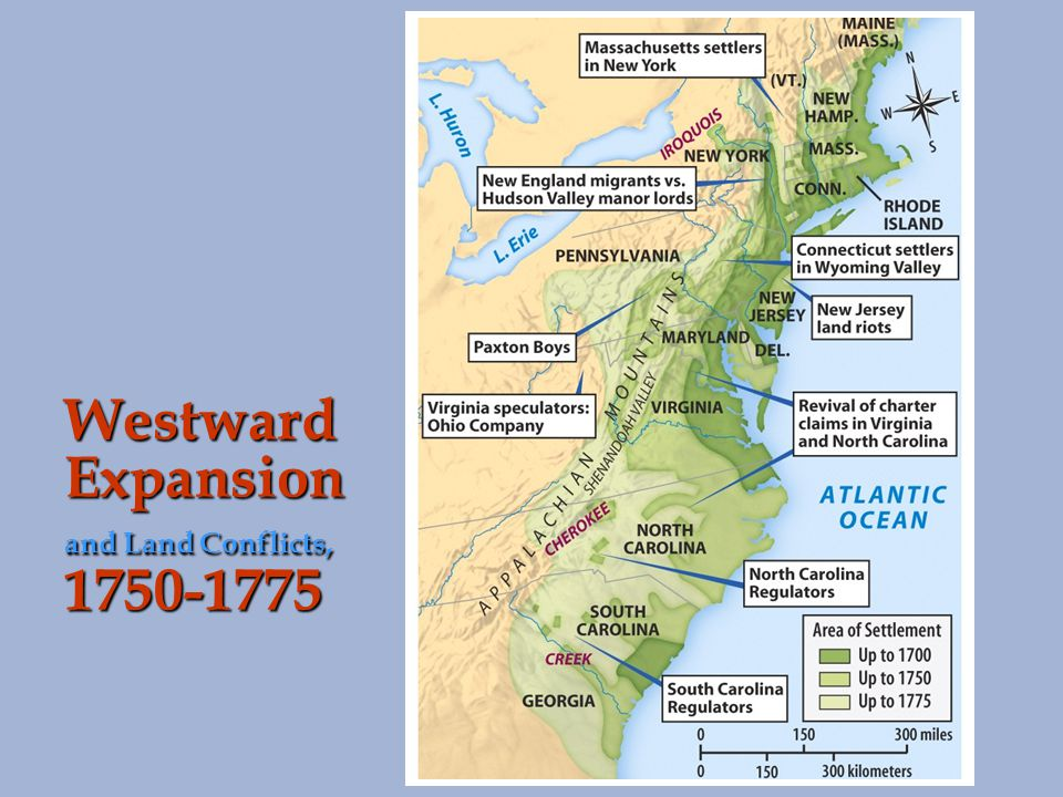 Westward Expansion and Land Conflicts, 1750-1775