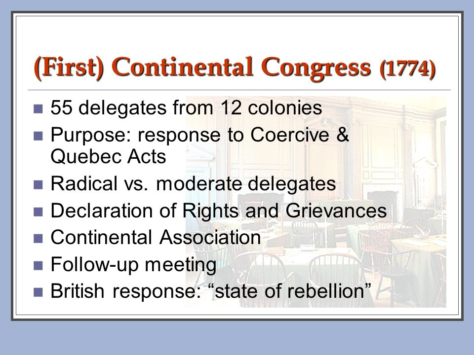 (First) Continental Congress (1774)