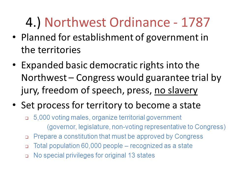 4.) Northwest Ordinance - 1787