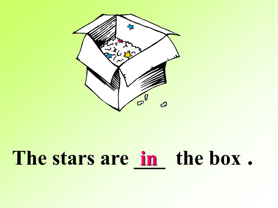 The stars are ___ the box .