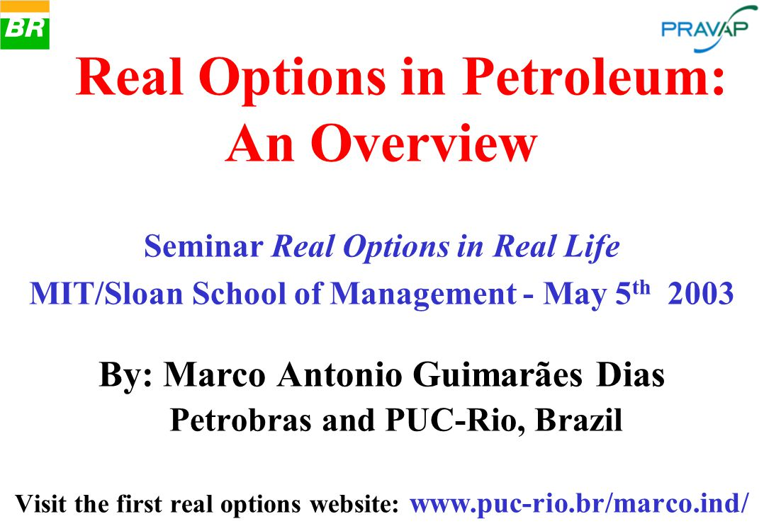 . Real Options in Petroleum: An Overview