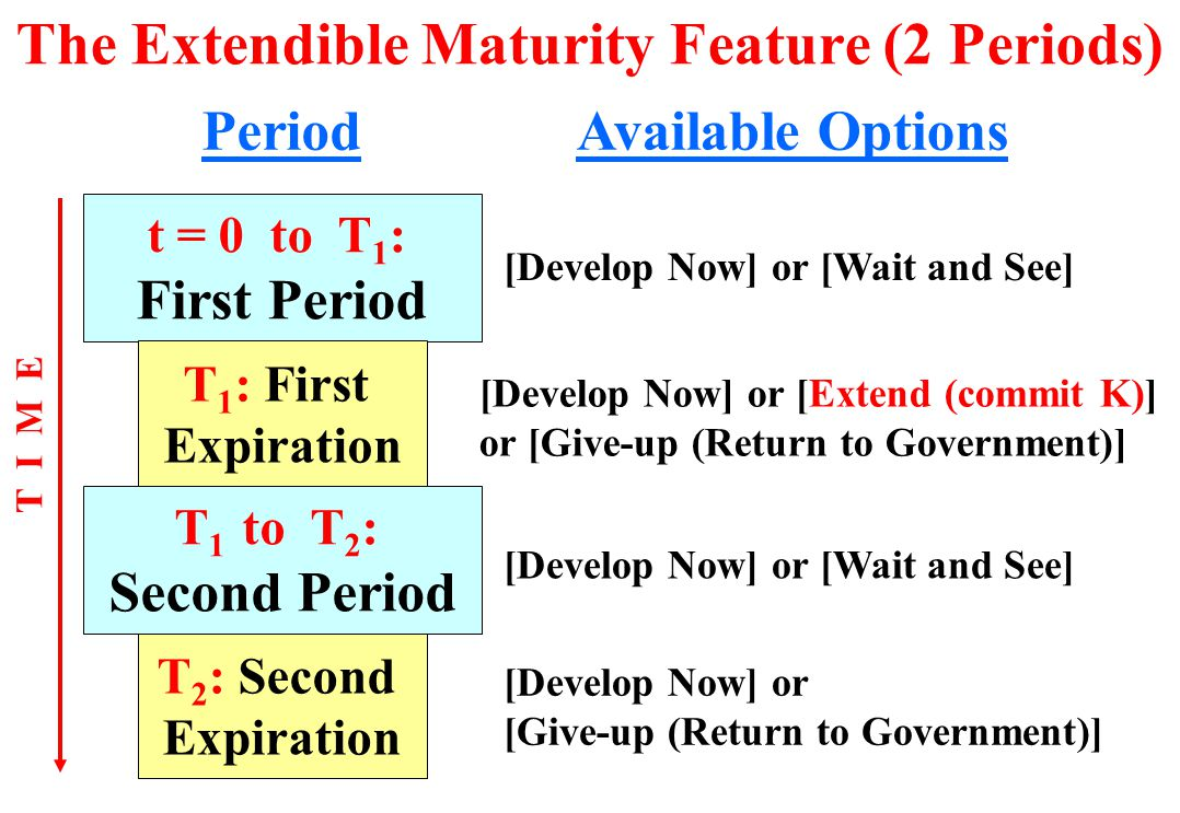 The Extendible Maturity Feature (2 Periods)