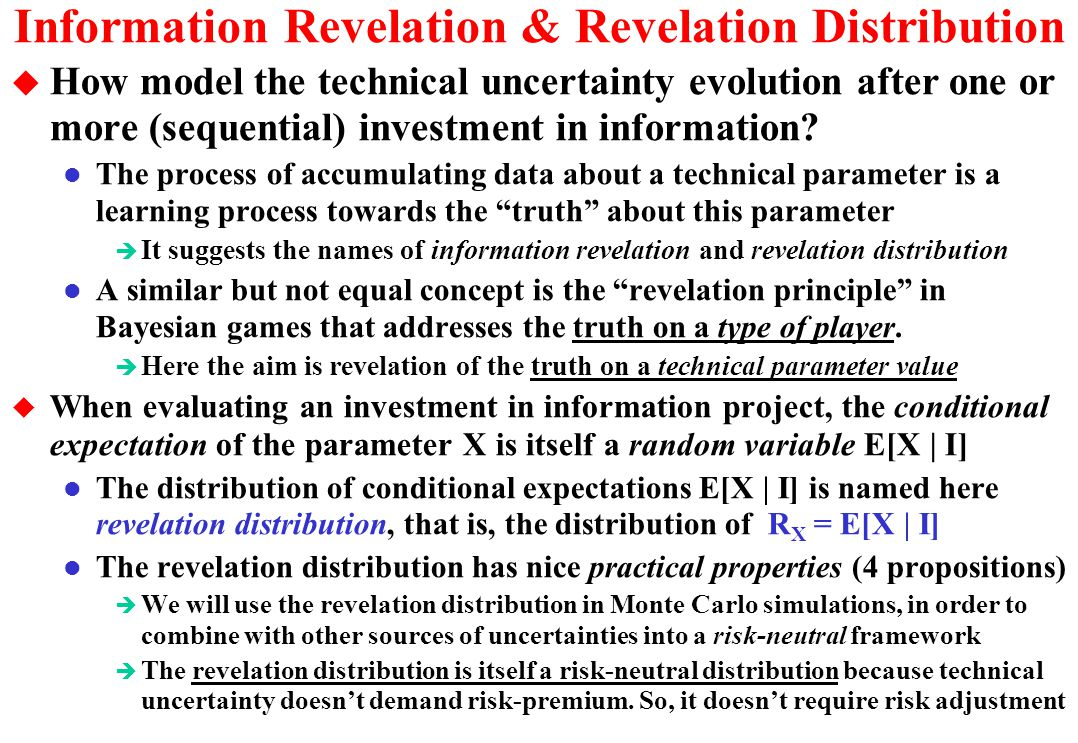 Information Revelation & Revelation Distribution