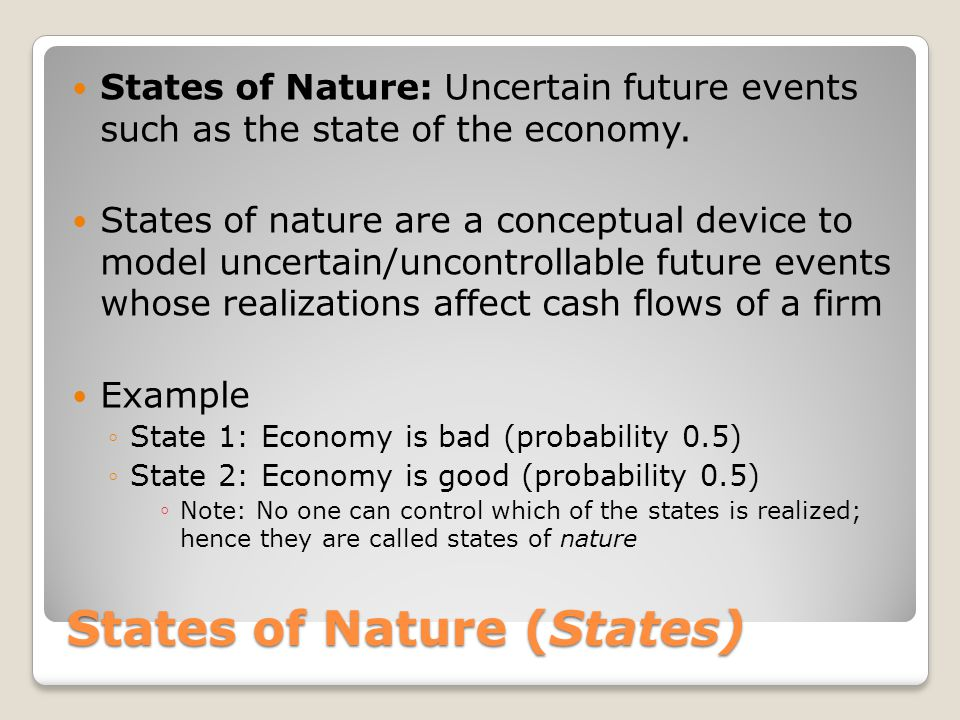 States of Nature (States)
