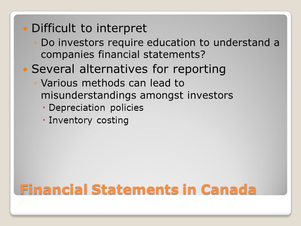 Financial Statements in Canada