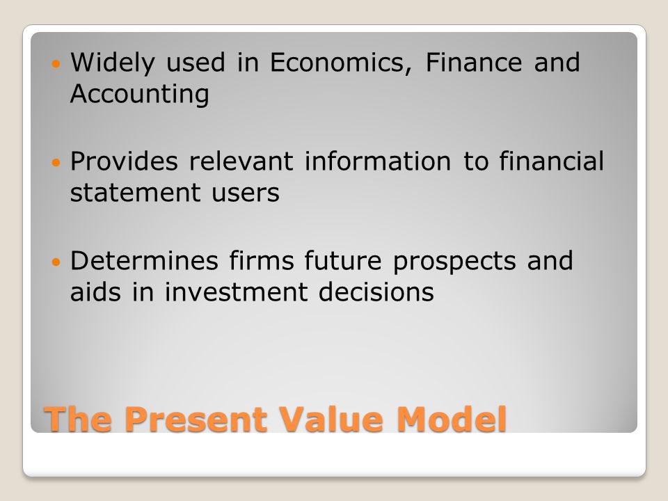 The Present Value Model