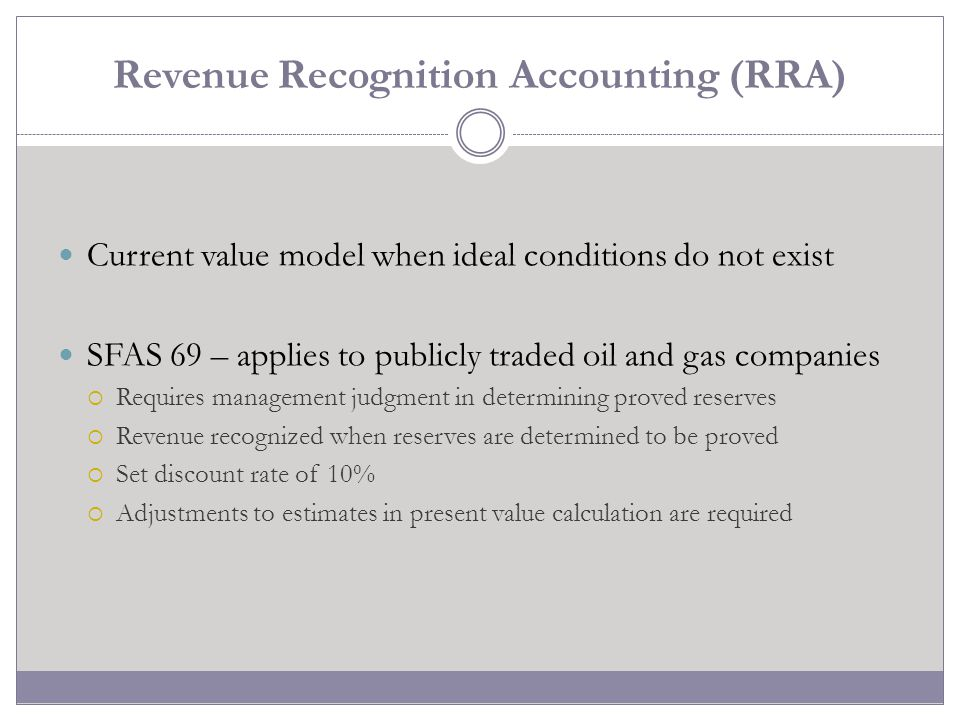 Revenue Recognition Accounting (RRA)