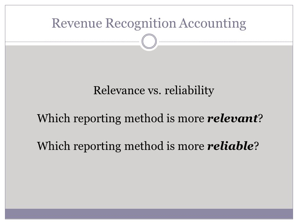 Revenue Recognition Accounting