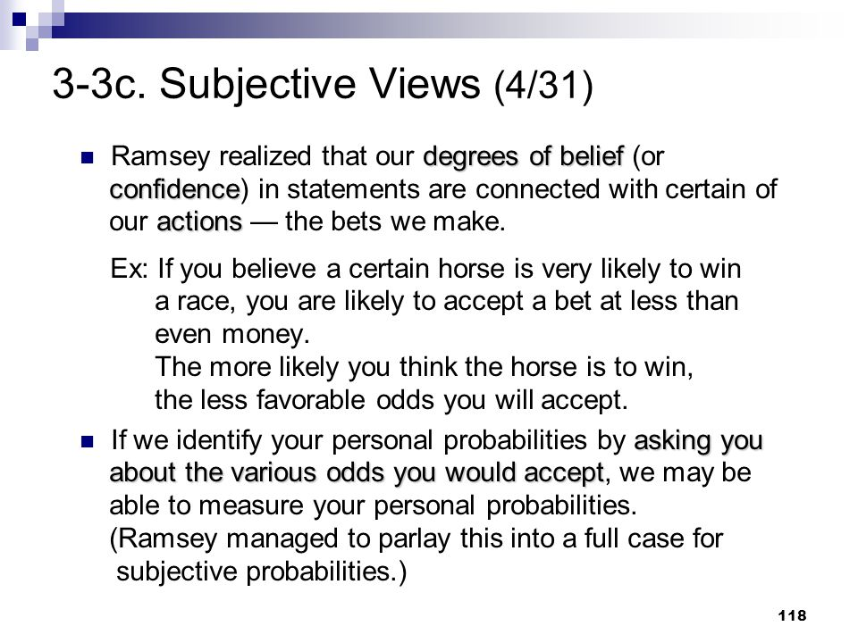 3-3c. Subjective Views (4/31)