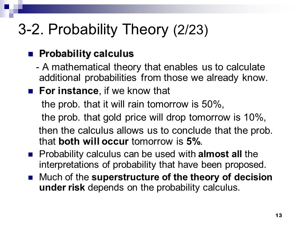 3-2. Probability Theory (2/23)