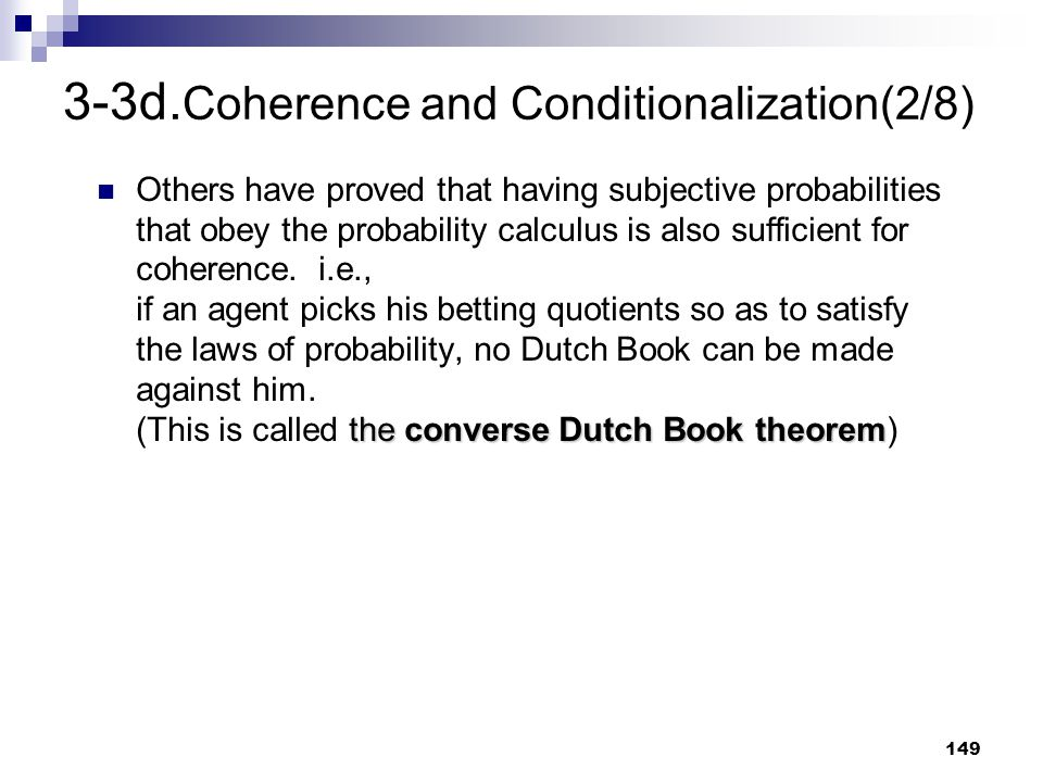 3-3d.Coherence and Conditionalization(2/8)