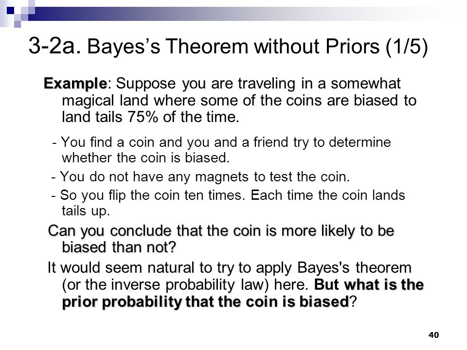 3-2a. Bayes's Theorem without Priors (1/5)