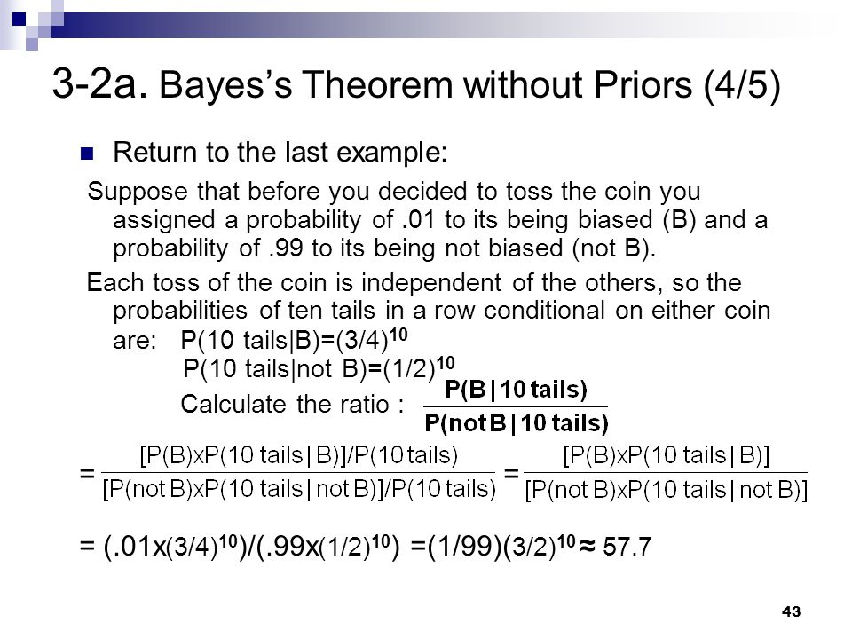 3-2a. Bayes's Theorem without Priors (4/5)