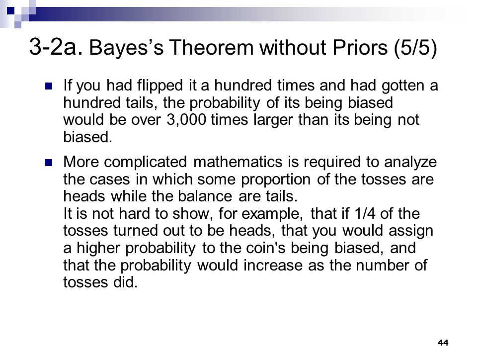 3-2a. Bayes's Theorem without Priors (5/5)