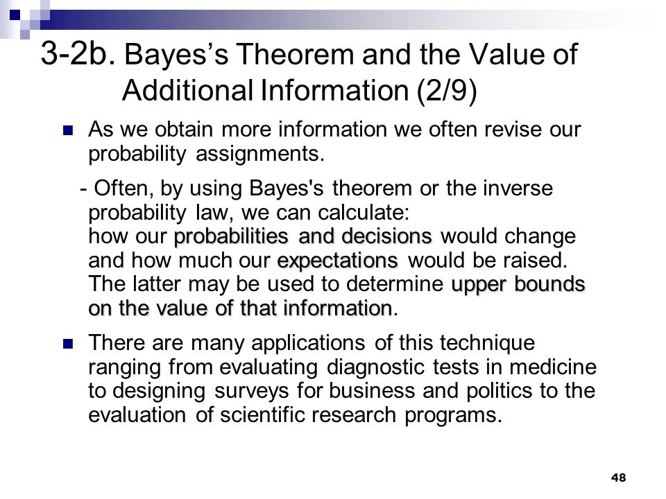 3-2b. Bayes's Theorem and the Value of Additional Information (2/9)