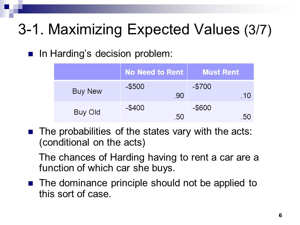 3-1. Maximizing Expected Values (3/7)