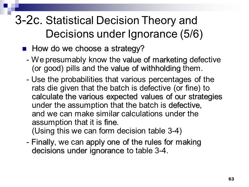 3-2c. Statistical Decision Theory and Decisions under Ignorance (5/6)