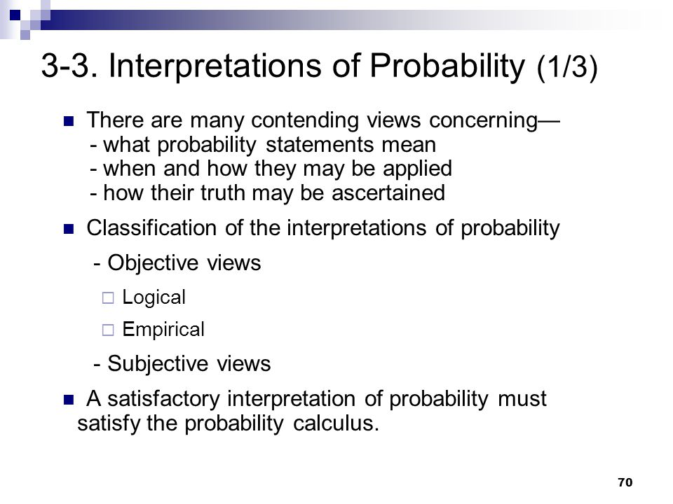 3-3. Interpretations of Probability (1/3)