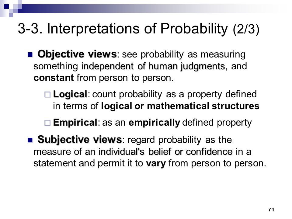 3-3. Interpretations of Probability (2/3)