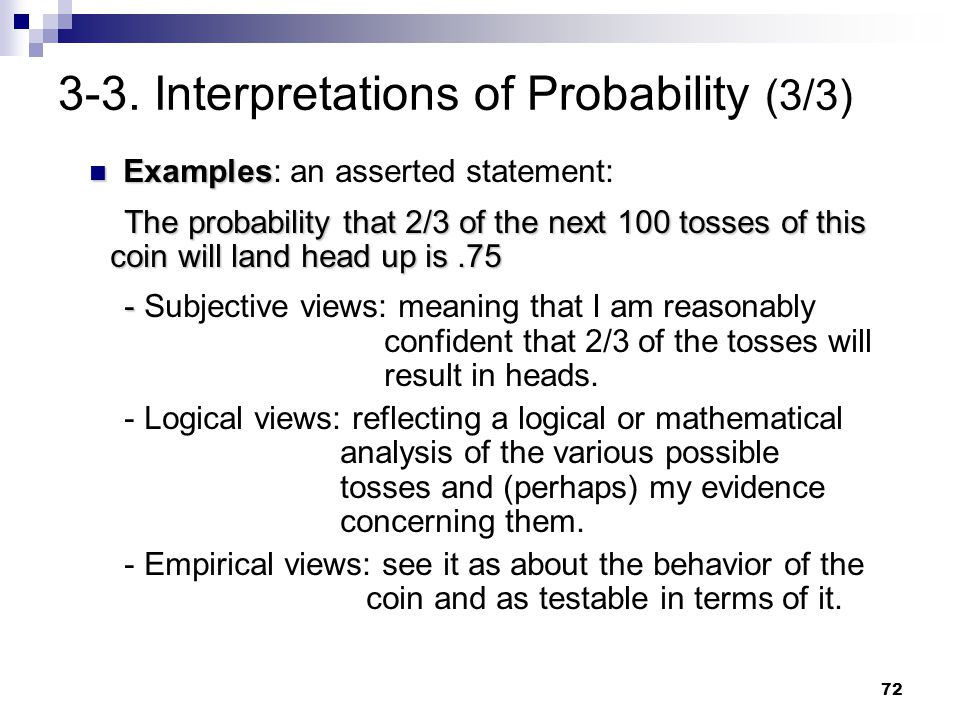 3-3. Interpretations of Probability (3/3)