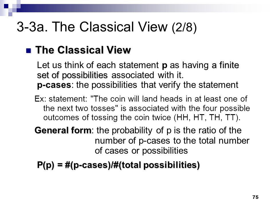 3-3a. The Classical View (2/8)