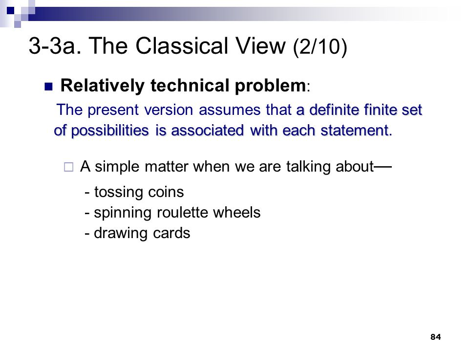 3-3a. The Classical View (2/10)
