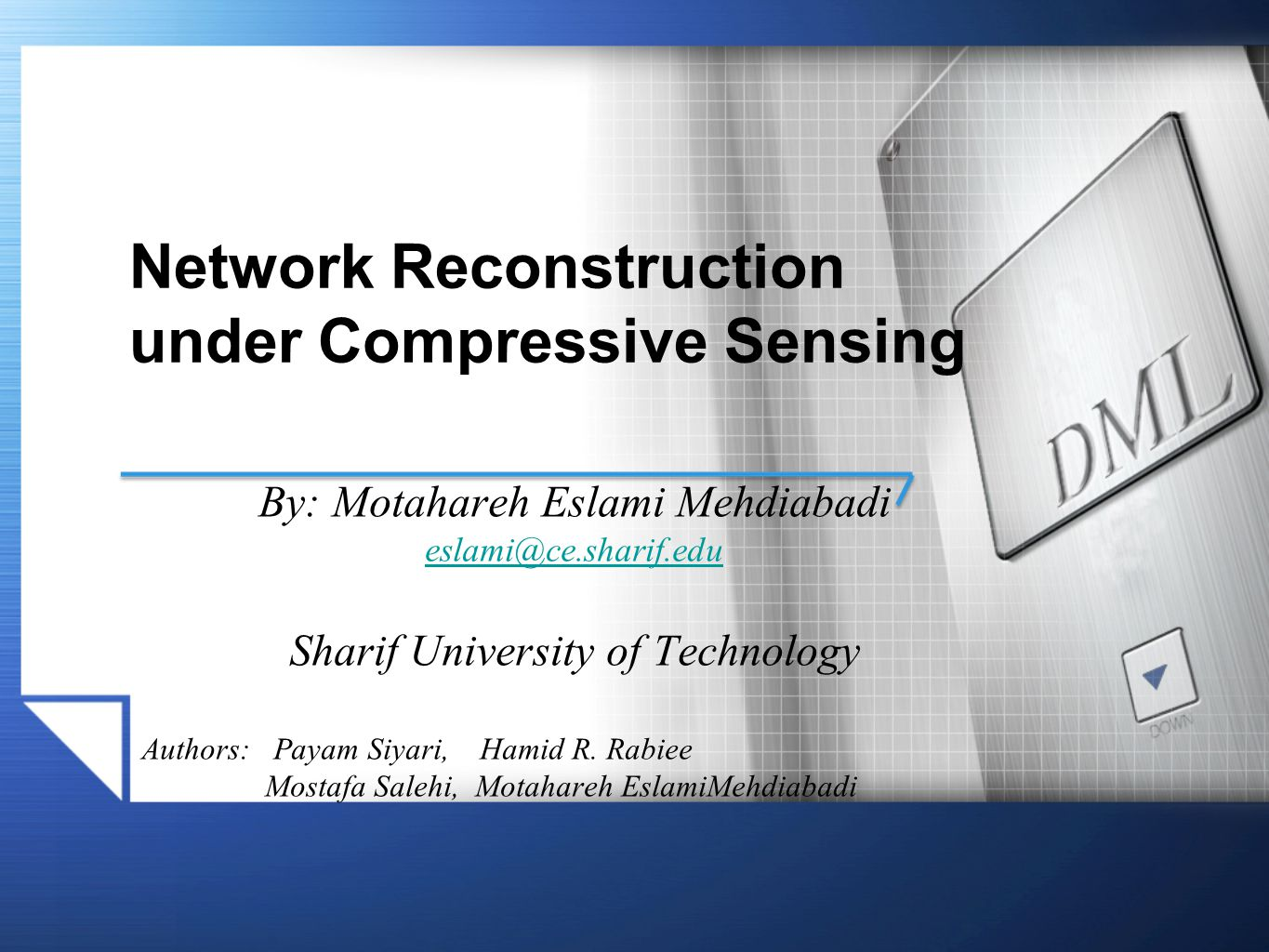 Network Reconstruction under Compressive Sensing
