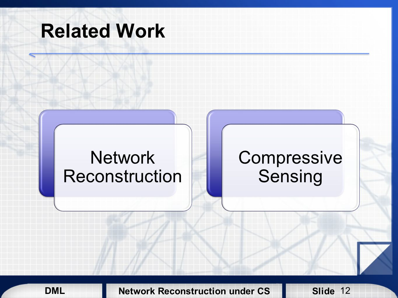 Network Reconstruction