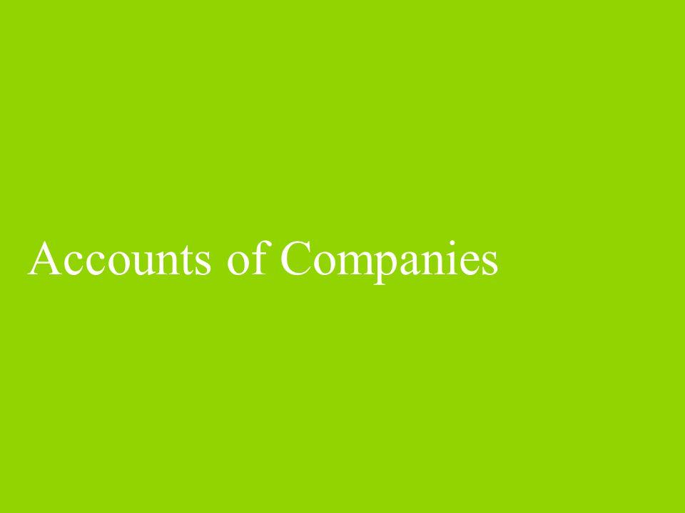 Accounts of Companies