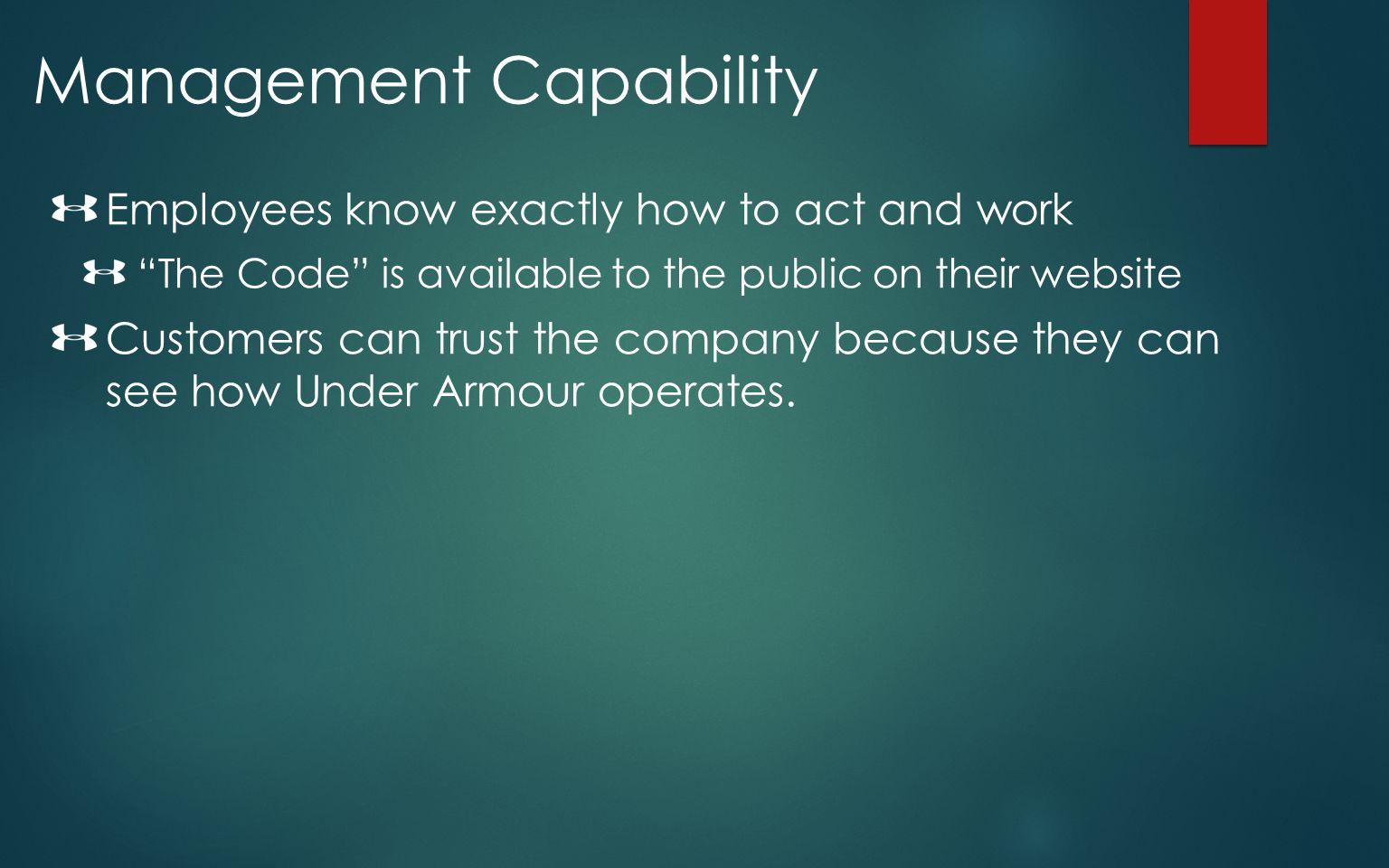 Management Capability