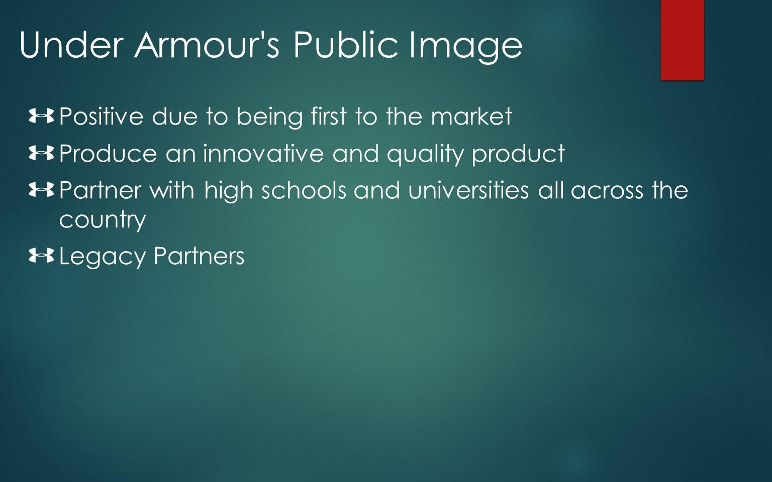 Under Armour s Public Image