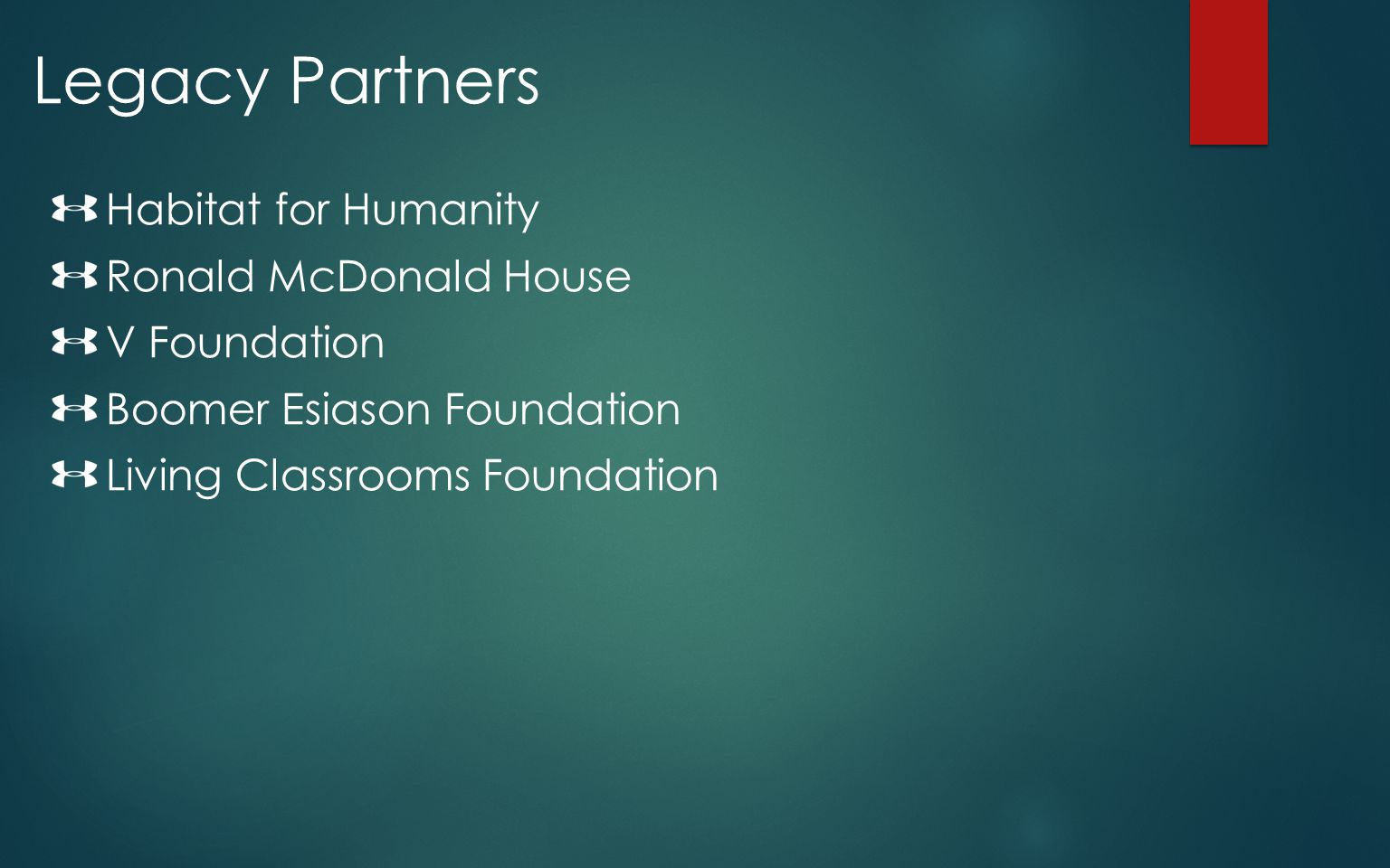 Legacy Partners Habitat for Humanity Ronald McDonald House