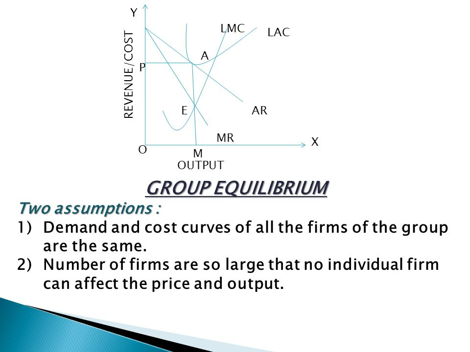 GROUP EQUILIBRIUM Two assumptions :