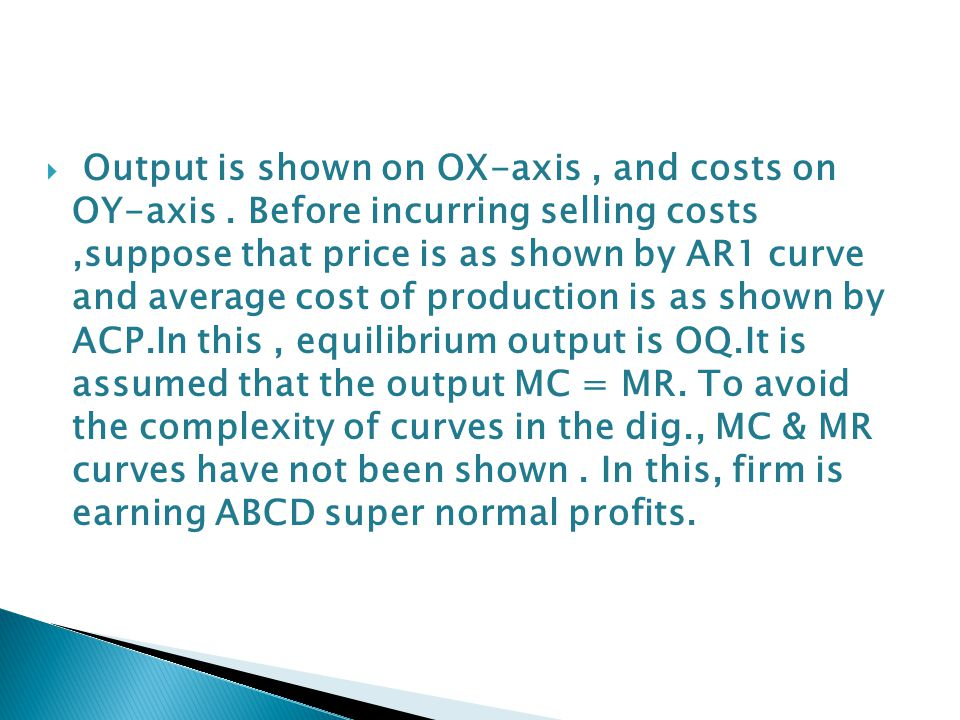 Output is shown on OX-axis , and costs on OY-axis