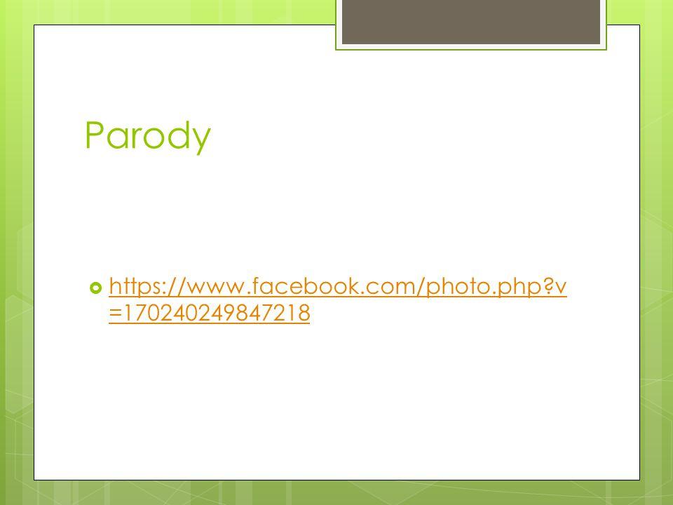 Parody https://www.facebook.com/photo.php v=170240249847218