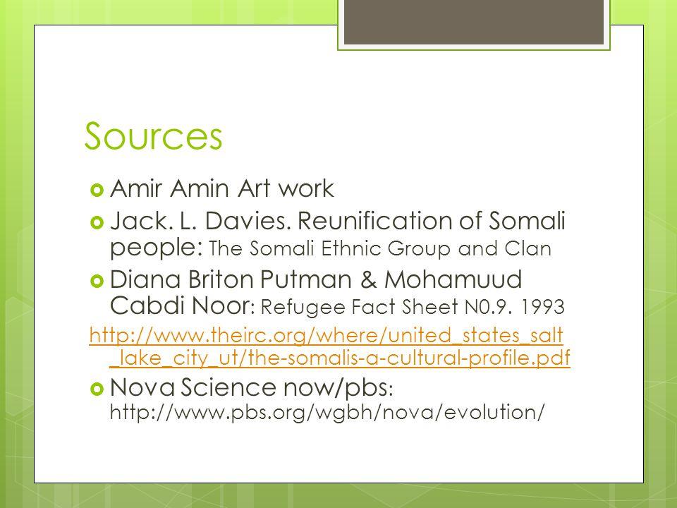Sources Amir Amin Art work
