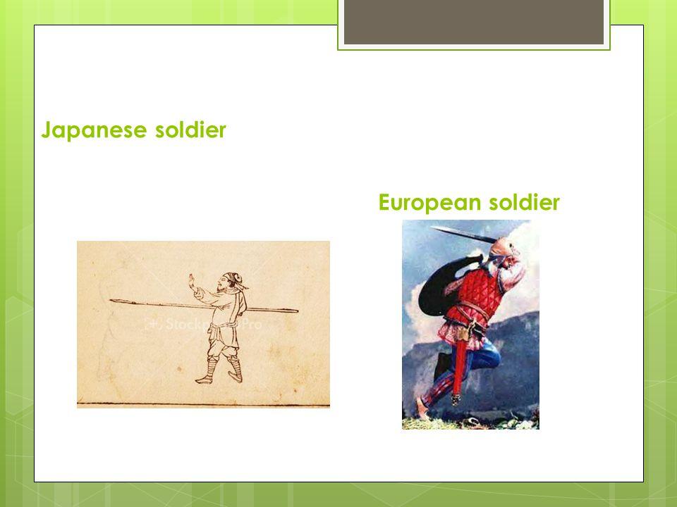 Japanese soldier European soldier