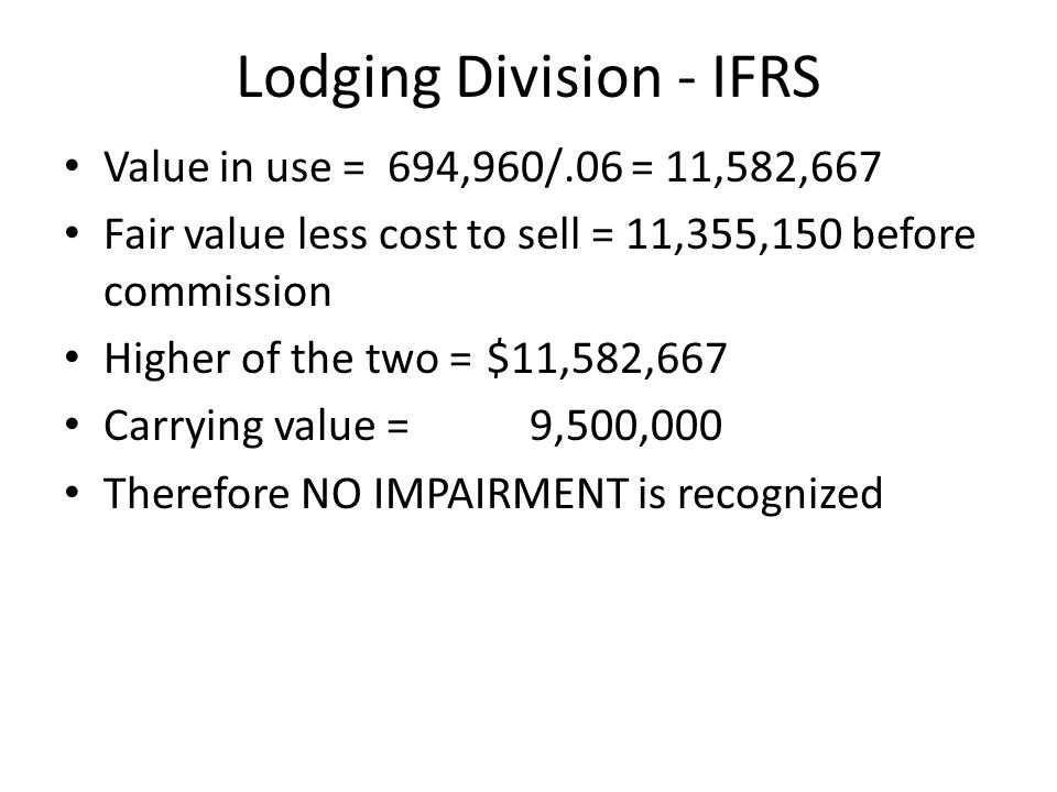 Lodging Division - IFRS