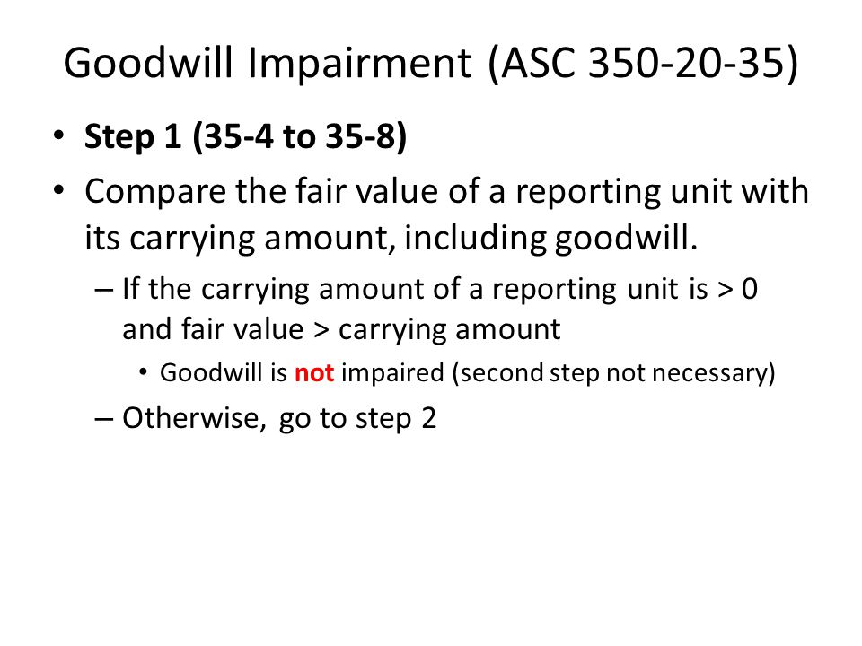 Goodwill Impairment (ASC 350-20-35)