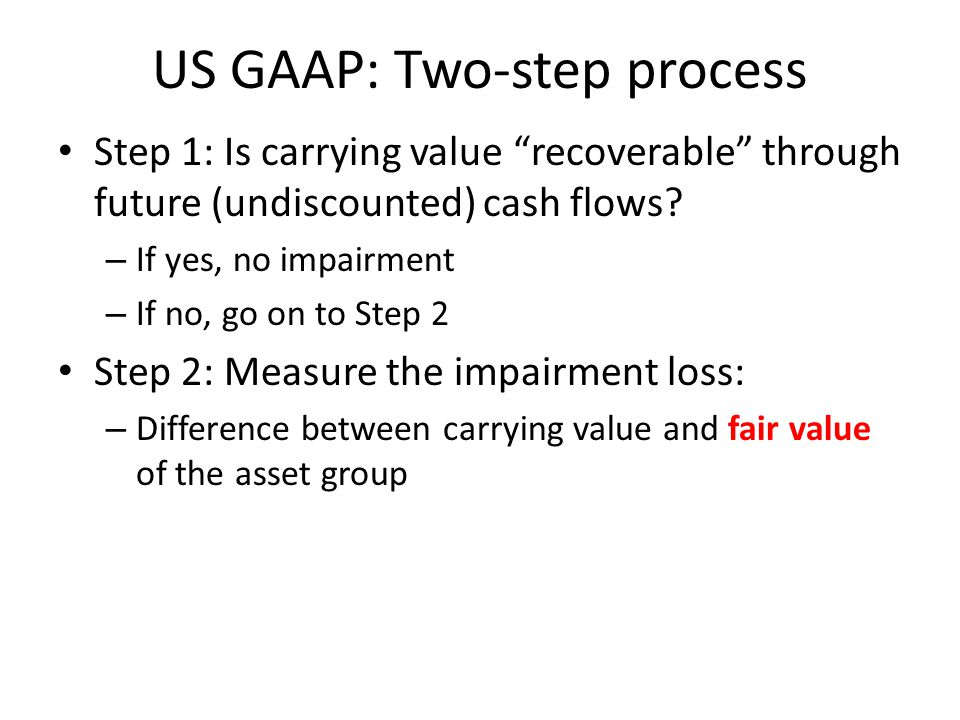 US GAAP: Two-step process