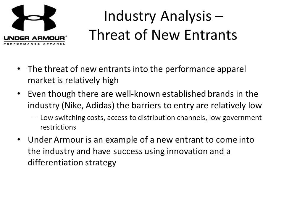 Industry Analysis – Threat of New Entrants