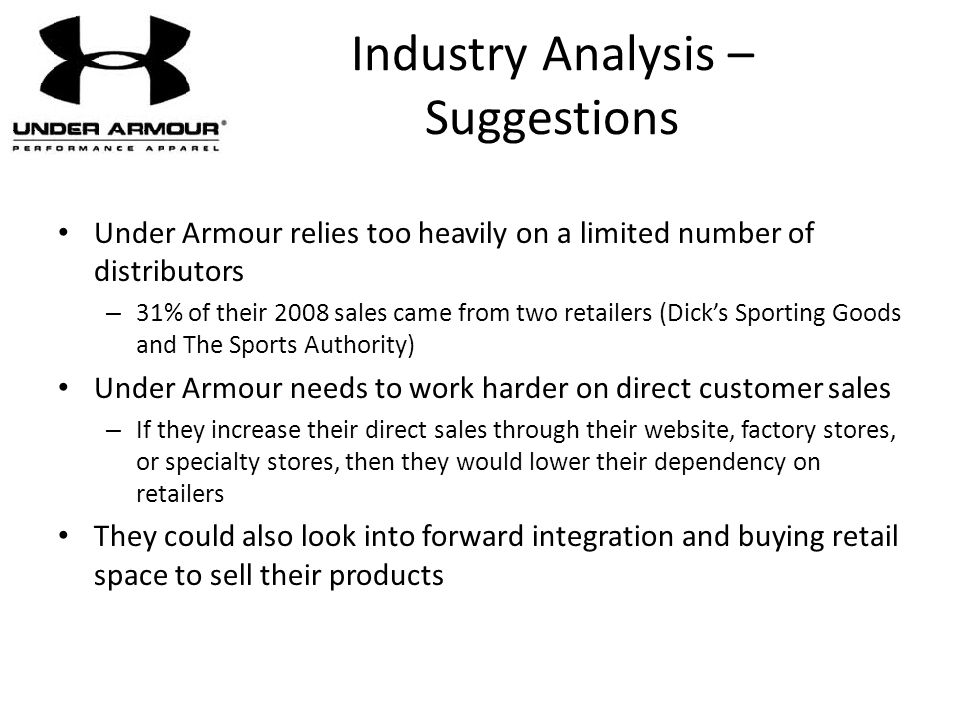 Industry Analysis – Suggestions