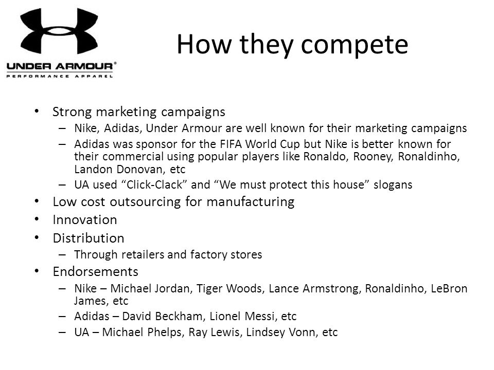 How they compete Strong marketing campaigns