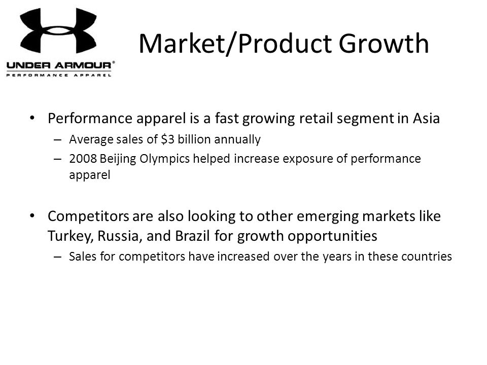 Market/Product Growth