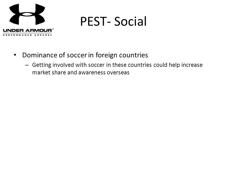 PEST- Social Dominance of soccer in foreign countries