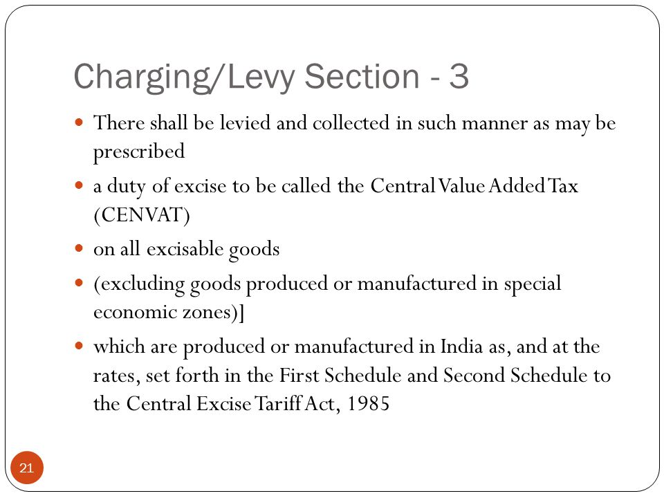 Charging/Levy Section - 3