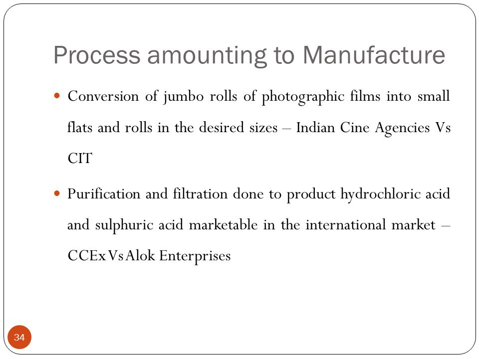 Process amounting to Manufacture