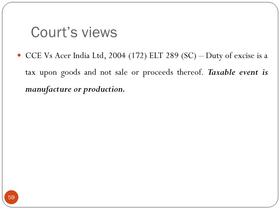 Court's views